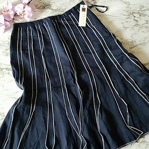 Carole Little Linen A Line Skirt
